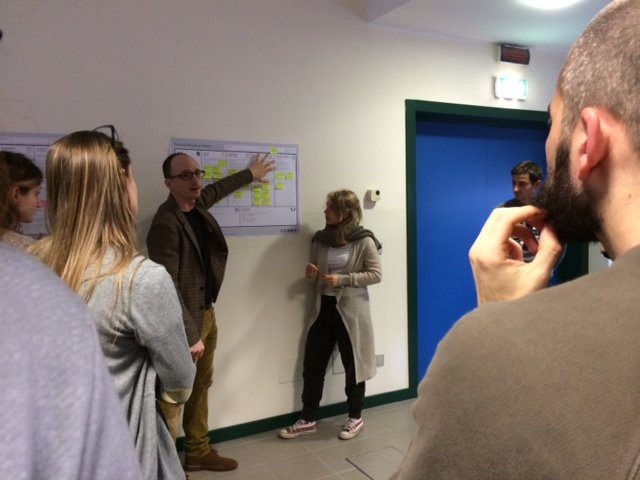 Students from IULM University using Personal Branding Canvas