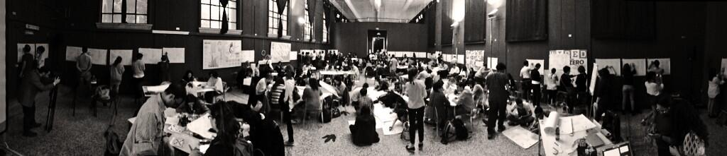 A 270° view by @Pestoverde of the Personal Branding Canvas event at the Wired Next Fest 2014 in Milan