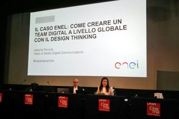 Isabella Panizza e Luigi Centenaro presentano il caso Enel alla Social Media Week di Roma